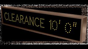 """Clearance"" custom LED sign"