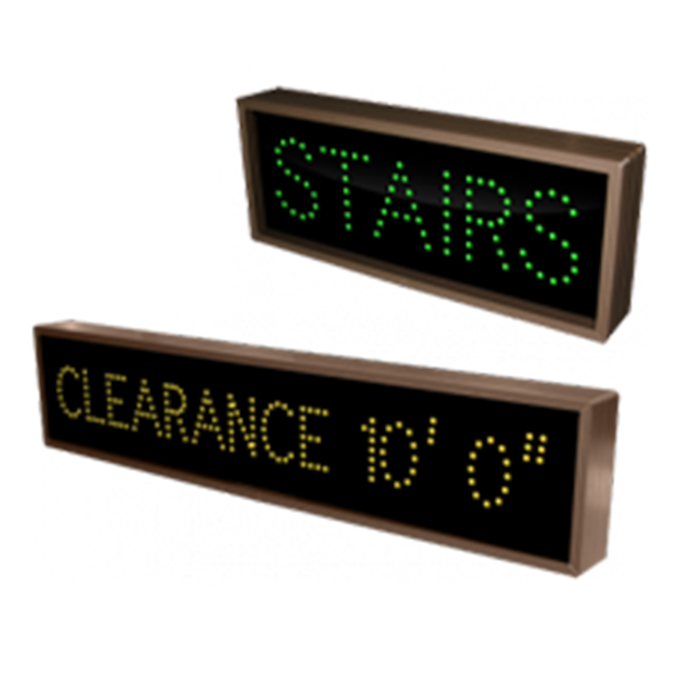 """Custom LED """"Stairs"""" and """"Clearance"""" signs"""