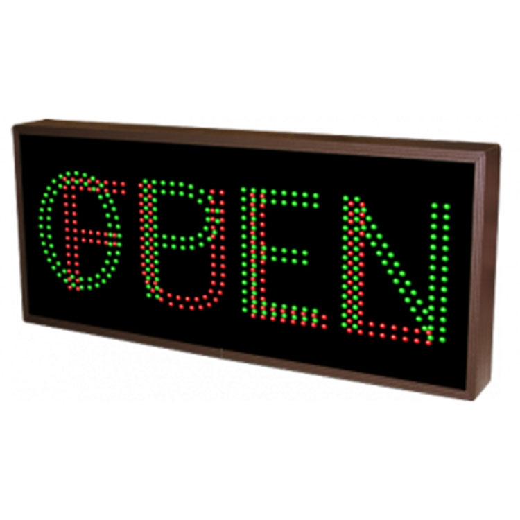 """Custom LED """"Open/Full"""" sign"""