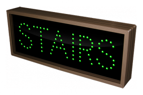 """""""Stairs"""" custom LED sign"""