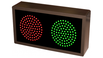 Green and red custom LED sign