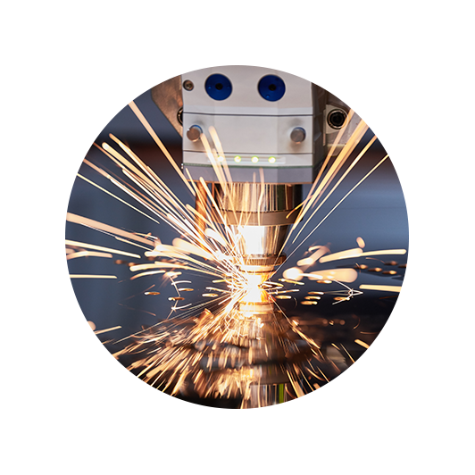 Photo of a CNC tool machining metal