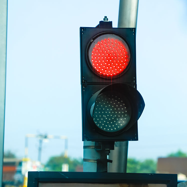 Small LED traffic lights