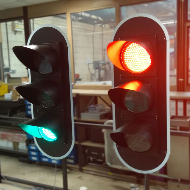 Bespoke large format traffic light system being tested