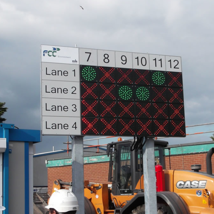 Photo of traffic management sign