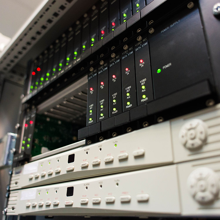 Photo of central CCTV control server installed at National Express headquarters